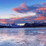 Sunset at Abraham Lake