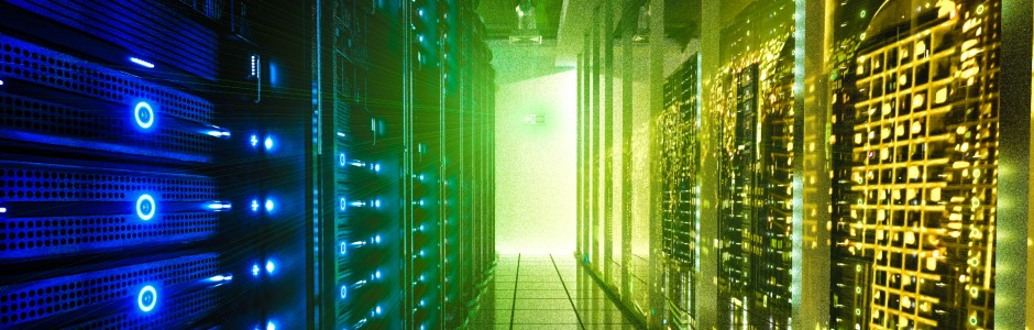 data center cooling image showing data center in action